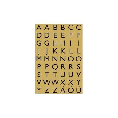 Lipn.etiketės raidės A-Z 13x12 4145