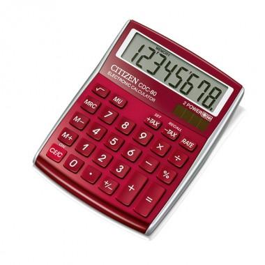 Skaičiavimo mašinėlė CDC-80RDWB raudona