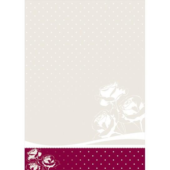 Dekor.popierius 100g Roža