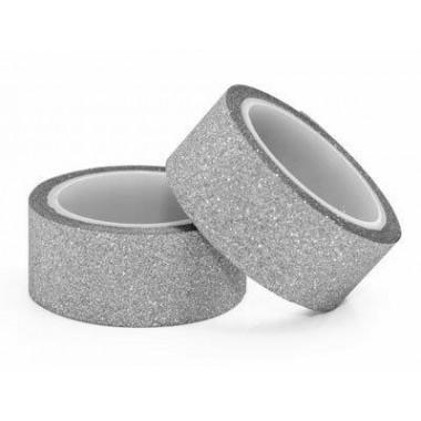 Lipn., juostelės,sidabrinės,15mmx3m,2vnt