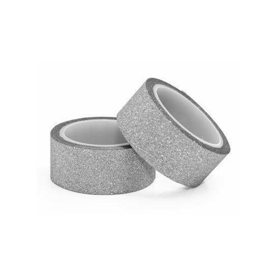 Lipni juostelės,sidabrinės,15mmx3m,2vnt