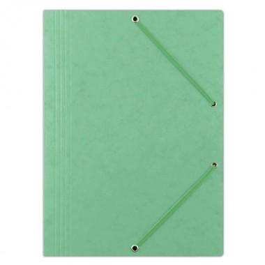 Aplankas su guma, A4, 390gms, šv.žalias
