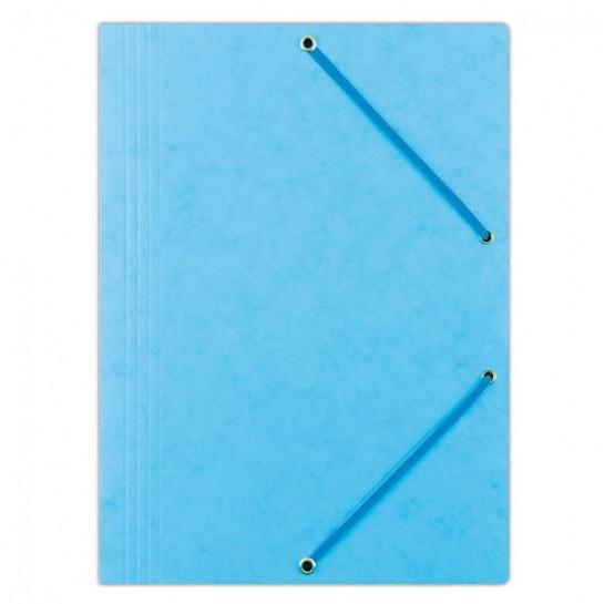 Aplankas su guma, A4, 390gms, šv.mėlynas