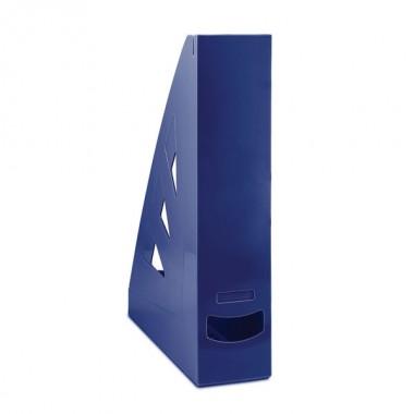 Stovas brošiūroms plastikinis, t.mėlynas