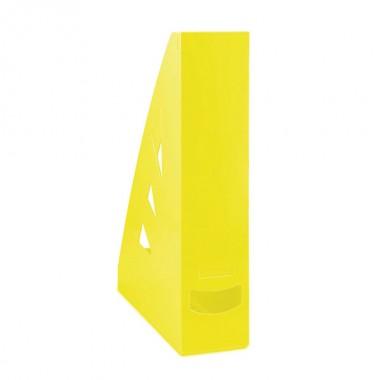Stovas brošiūroms plastikinis, geltonas