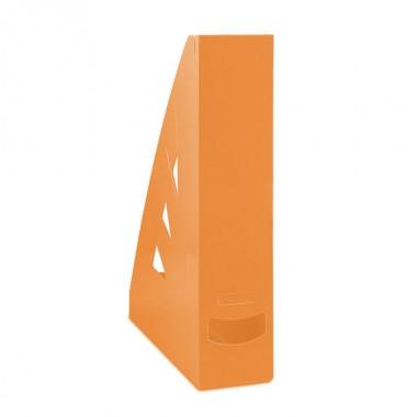 Stovas brošiūroms plastikinis, oranžinis