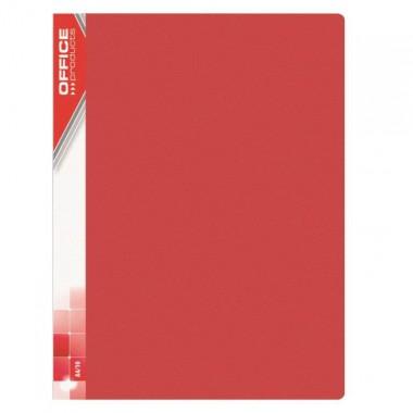 Raudonas aplankas su 20 įmaučių, A4