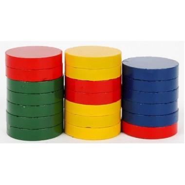 Magnetukai 25mm, 20vnt., spalvoti