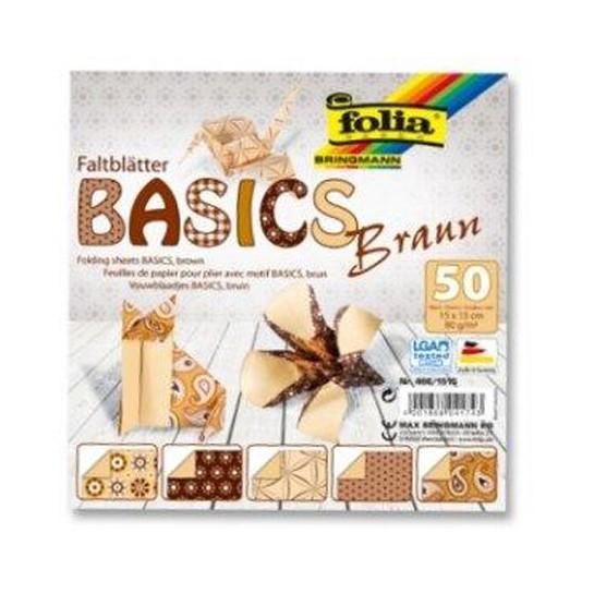 Origami 15x15/50l Folia 5 rudi motyvai