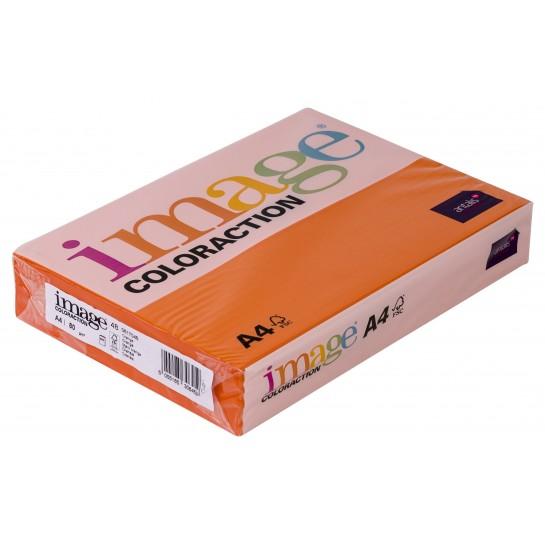 Spalv.popierius A4 80g. IC 48 oranžinė