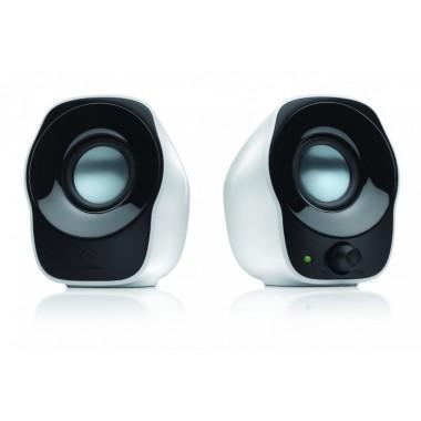 LOGITECH Z120 Stereo Notebook Speaker 2.0 1.2Watt USB black white