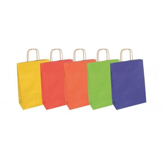 Dovanų maišelis 18x8x22.5cm mix (kraft) vienspalvis