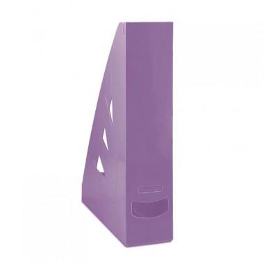 Stovas brošiūroms plastikinis,violetinis
