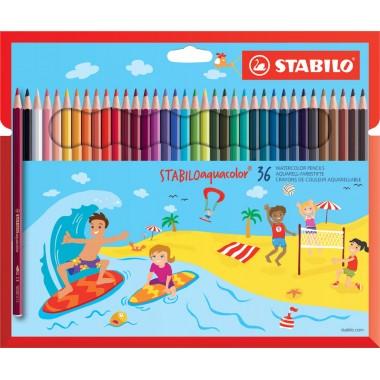 Pieštukai spalvoti akvareliniai 36vnt.