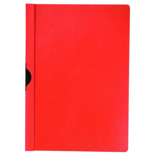 Segtuvėlis su metaliniu klipsu, raudonas