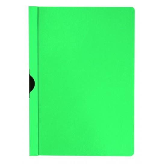 Segtuvėlis su metaliniu klipsu, žalias