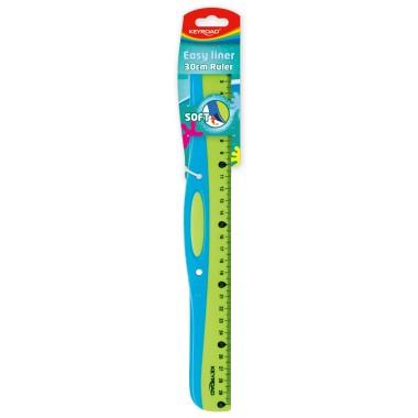 Liniuotė Soft Grip 30cm
