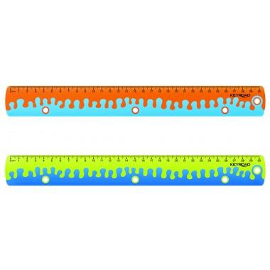 Liniuotė Soft Grip-Coral 30cm