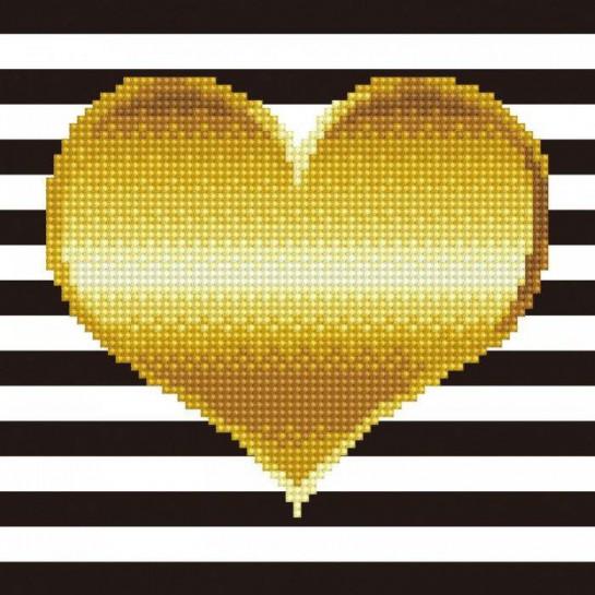 Deimantinė mozaika HEART 22x30