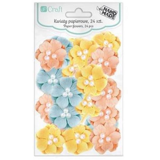 Gėlės pastelinės popierinės 2,4cm 24vnt