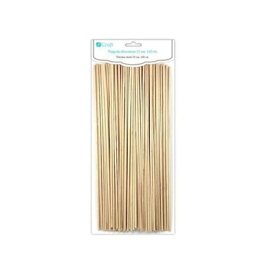 Mediniai pagaliukai 25cm 100vnt