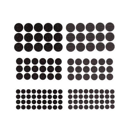 Apvalūs lipdukai mix 69vnt juodi
