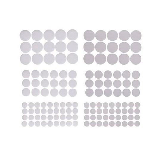 Apvalūs lipdukai mix 69vnt balti